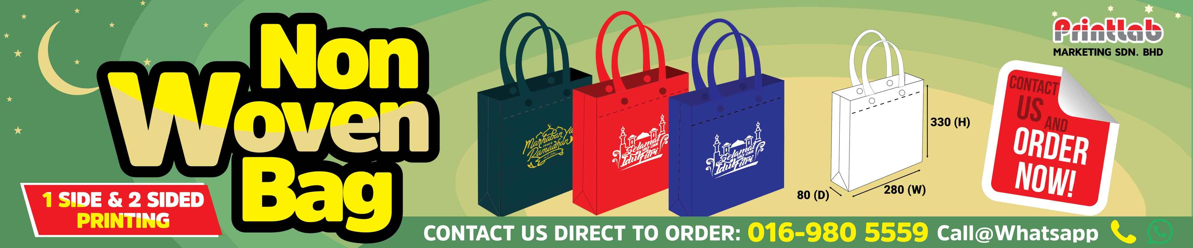 Printlab Design and Print Non Woven Bag or Recycle Bag Printing in Malaysia Reka Bentuk dan Cetak atau Percetakan Beg Kitar S