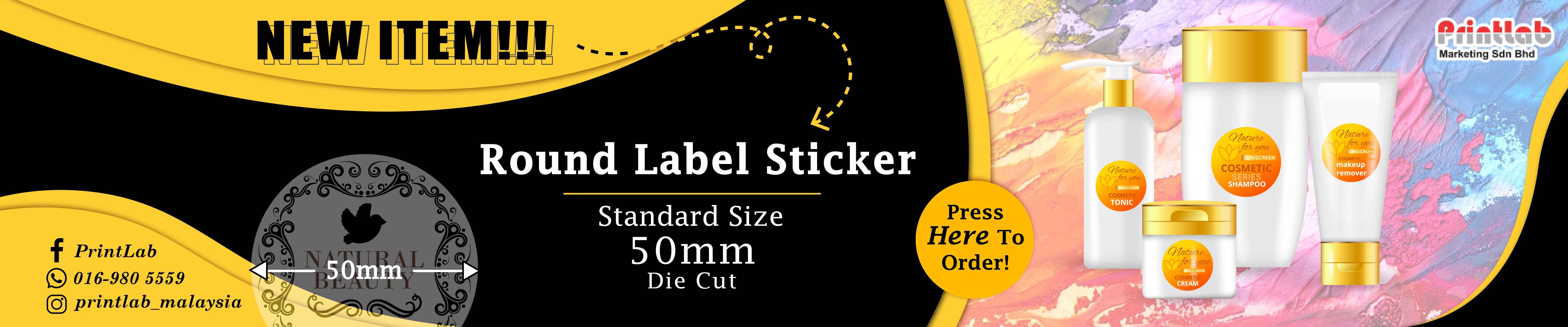 Round Standard Size Sticker