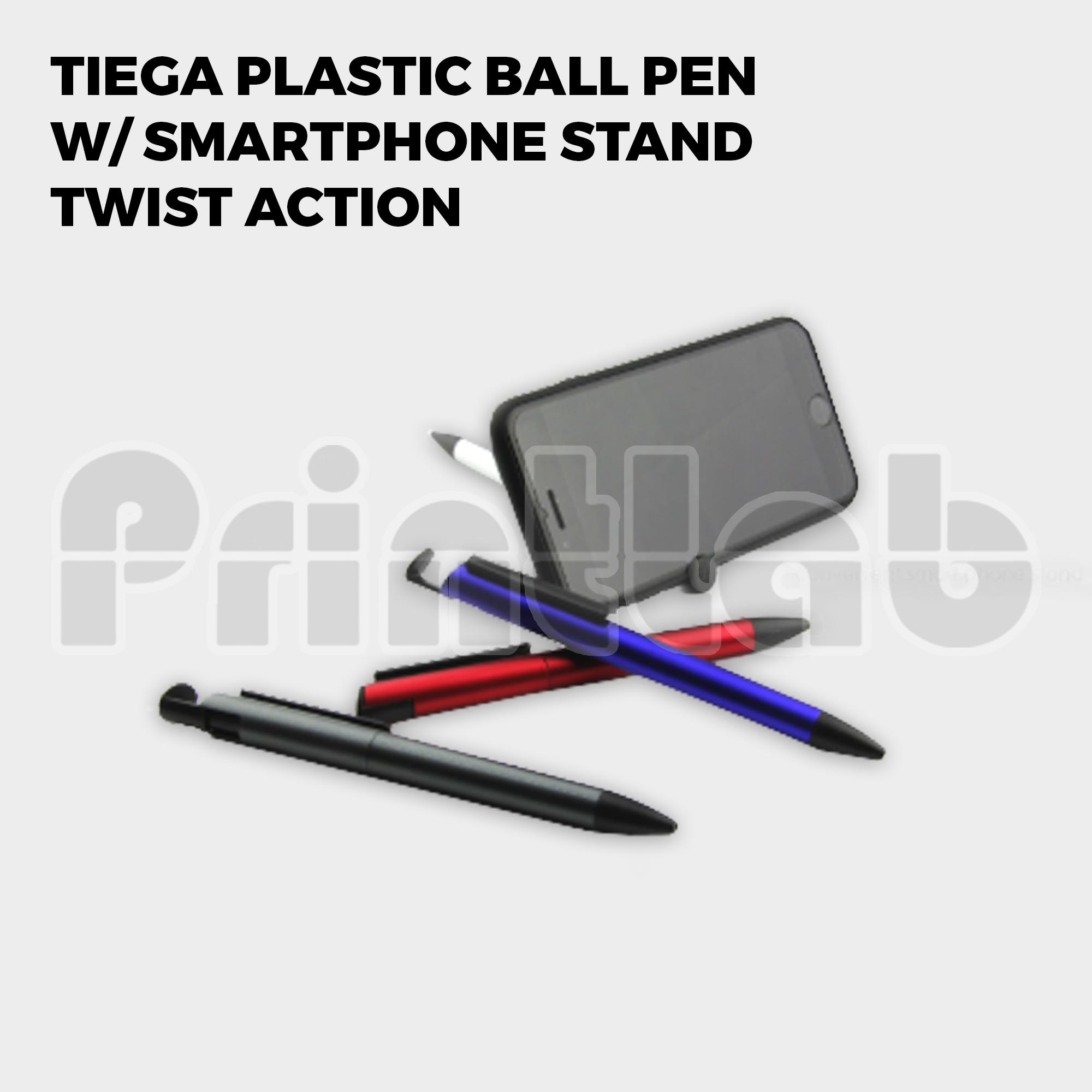 Tiega Plastic Ball Pen w/ Smartphone Stand