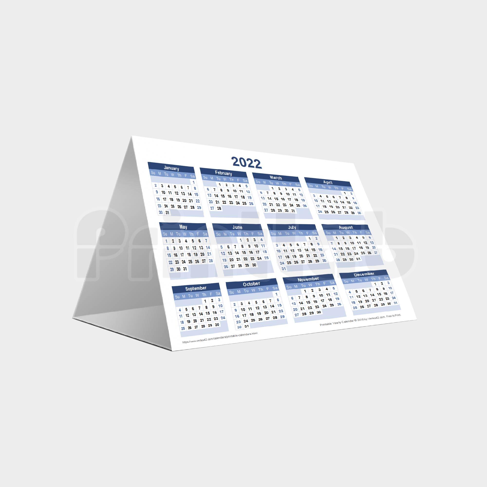 Eco Desk Calendar (Soft Stand)