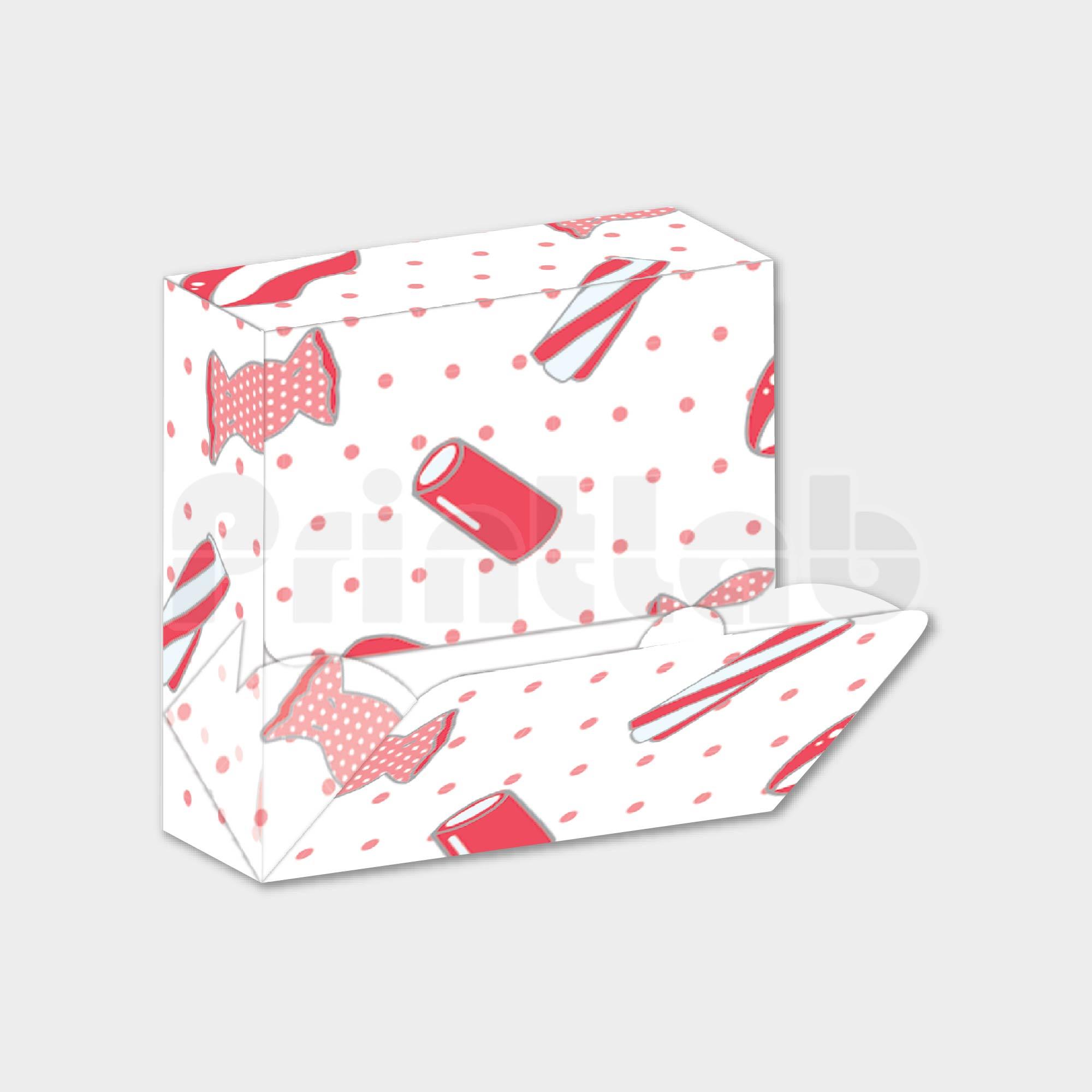 Candy Sachet Box, Flip Out Open Dispenser Box