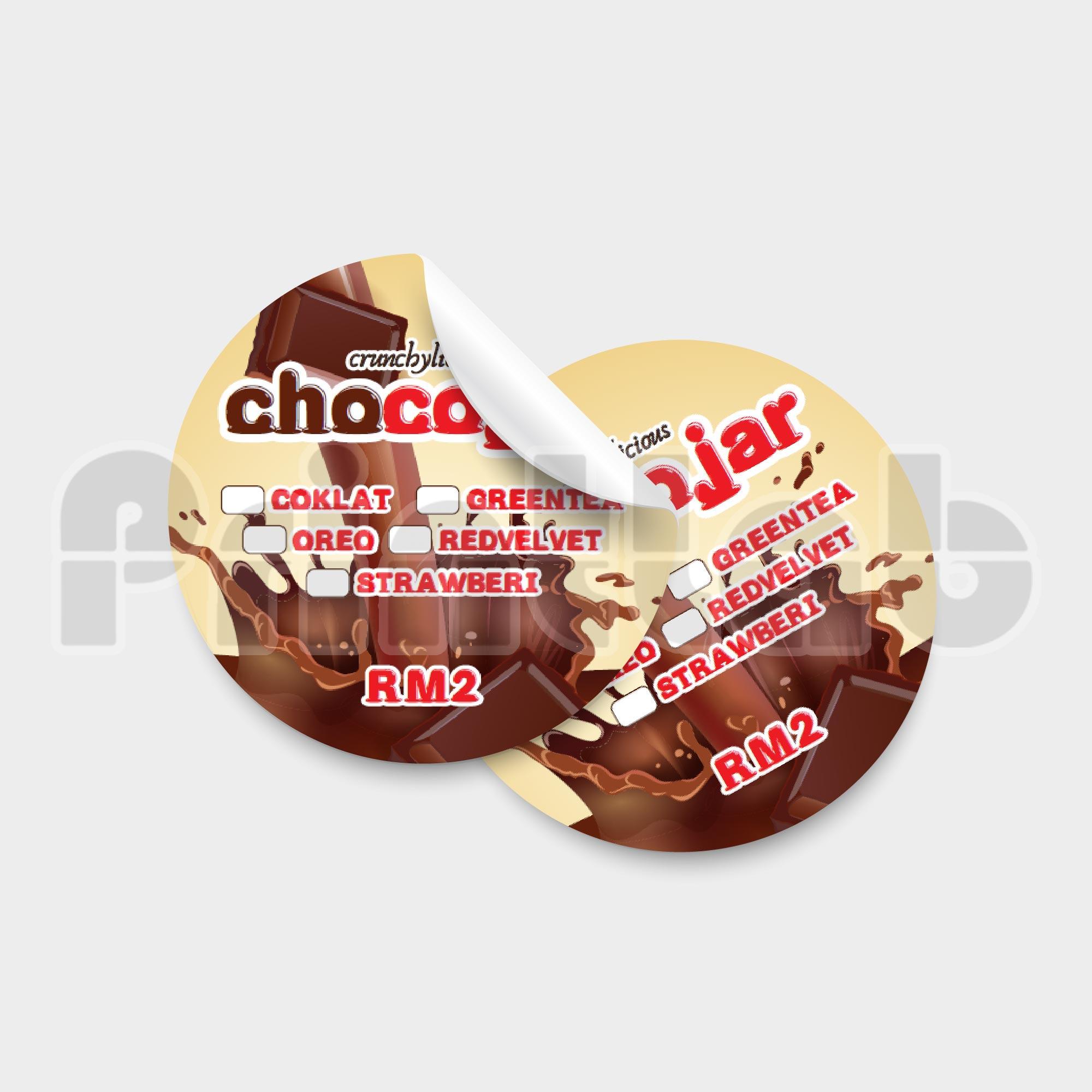 Sticker Label Round Standard Size