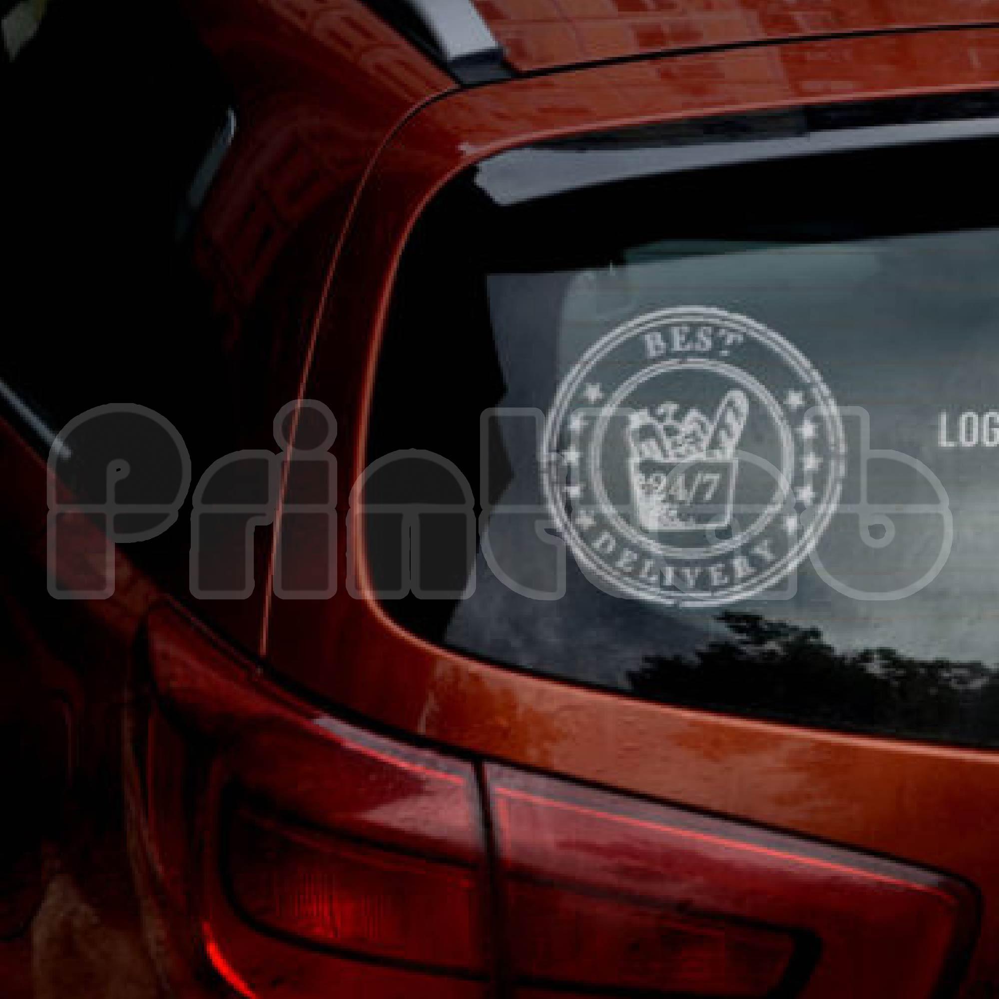 Static Window Sticker (Custom Size)