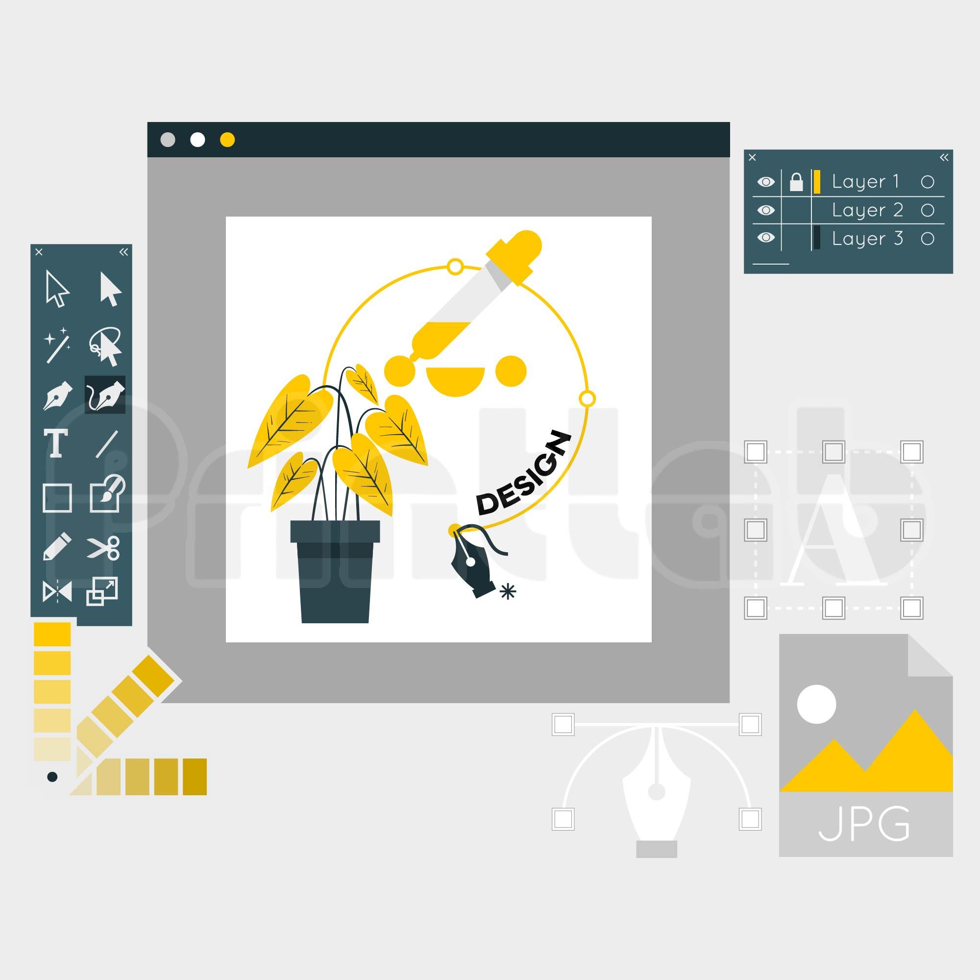 Design Text & Image (Full Design)